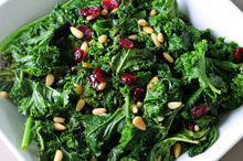 Sauteed kale with cranberries and pine nuts.Photo / Thinkstock