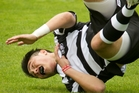 Hawke's Bay under-20s halfback Sheridan Rangihuna hits the deck. Photo / Warren Buckland