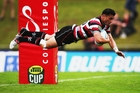 Sherwin Stowers has been in electric form for Ranfurly Shield holders Counties Manukau during this season's ITM Cup. Photo / Getty Images