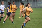 Wanganui High School (gold) were the dominant team during the warm-up matches for tomorrow night's under-19 women's sevens finals at Cooks Gardens. PICTURE/FILE