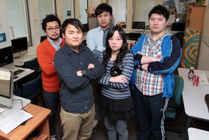 Students and staff (from left) Yoshinori Ban, Howard Huang, Luke Xu, Joyce Liu and Xin Wang are upset. Photo / Doug Sherring