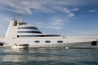 The mega yacht owned by 36-year old Russian billionaire Andrey Melnichenko, known as