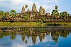 Cambodia's Angkor Wat is thought to be miniature tribute to the universe. Photo / Getty Images