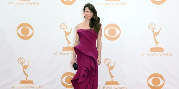Actress Linda Cardellini at the Emmy Awards. Photo / AFP