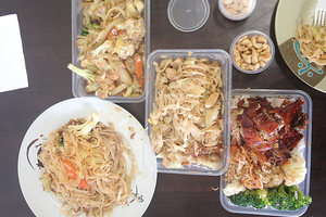 Vegetables, pad Thai and duck from A Taste of Asia.Photo / NZ Herald online