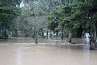 Flooding from the Waimauku River in Waimauku. Photo / Kerryn Davis