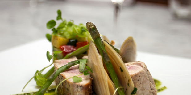 It was an evening of hits and misses at Toto, where seared tuna is on the menu. Photo / Michael Craig