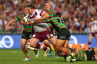 Manly's George Rose takes on the Rabbitohs defence on Friday. Photo / Getty Images