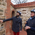 Jon Bridges is shown around historic North Terrace by Tourabout Adelaide guide Jeff Easley in Adelaide, South Australia. Photo / Richard Robinson
