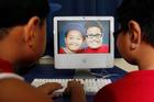 Benjamin Ahomana, left, and Samuel Mikaio are already adept with the classroom's iMac computer. Photo / Richard Robinson