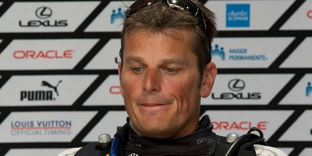 Emirates Team New Zealand skipper Dean Barker.