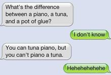 Dad jokes.... via txt
