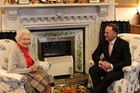 The Queen and John Key at her castle in Balmoral. Photo / Claire Trevett