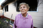 Edna Harrison tried to help save her neighbours house.