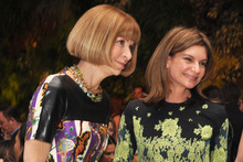 Anna Wintour, editor-in-chief of Vogue and Natalie Massenet. Photo / Amanda Gordon