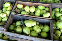 Pears in Crates at the Barossa markets. Photo / Getty Images