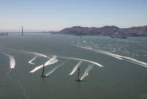 Oracle's doing everything they can to play with Team NZ's minds. Photo / Gilles Martin-Raget