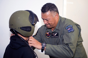 Sergeant Destry Tumataiki and 40 Squadron organised a Pillars mentoring joyride on a Hercules last weekend. Photo / RNZAF