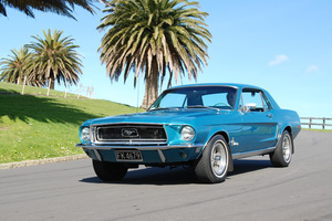 Peter Hutson and his 1968 two-door hard-top Mustang. Pictures/Jacqui Madelin