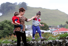 Louise Sly enjoys playing with her kids at Mangere Bridge, which was a backwater 10 years ago, but has rocketed in popularity. Photo / Jason Oxenham