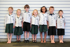 These Hauraki Primary 7-year-olds range in height from 115m to 132.5m. Photo / Doug Sherring