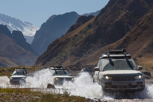 The Range Rover convoy has taken a variety of punishing conditions in its stride.