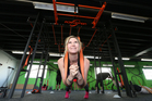 Rachel Grunwell is put through her paces at the Jungle Gym in Browns Bay. Photo / Chris Loufte
