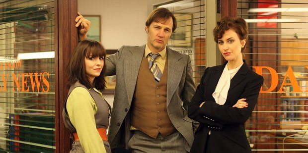 Jayd Johnson, David Morrissey and Katherine Kelly could well be speaking in tongues.