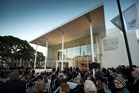 Hawkes Bay Museum: Local Iwi performed a dawn blessing of the new MTG ( Museum, Theatre, Gallery) in Napier. Photo / John Cowpland