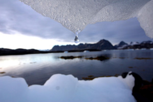 Such a rise could trigger the release of plumes of the greenhouse gas methane from the thawing Arctic tundra. Photo / AP