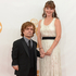Peter Dinklage, left, and his wife Erica Schmidt arrive at the 65th Primetime Emmy Awards. Photo / AP