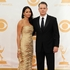 Matt Damon, right, and his wife Luciana Barroso arrive at the 65th Primetime Emmy Awards. Photo / AP