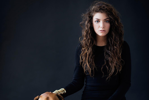 Lorde wore at dress by Stolen Girlfriends Club in this early publicity photo.