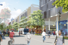 A city council artist's impression of the future for Manukau's Putney Way.