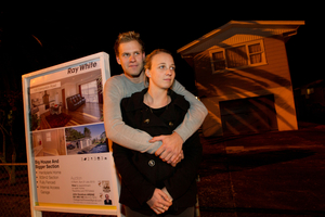 First-time house buyers Alyssa Longville and Callum Carter. Photo / Richard Robinson