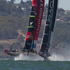 Emirates Team New Zealand get the jump on Oracle at the start, to win Race 11 of the America's Cup, between Emirates Team New Zealand and Oracle, on San Francisco Bay. Photo / Brett Phibbs