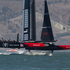 Oracle in action against Emirates Team New Zealand in Race 11 of the America's Cup, between Emirates Team New Zealand and Oracle, on San Francisco Bay. Photo / Brett Phibbs