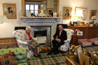 Queen Elizabeth II entertains New Zealand Prime Minister John Key at her castle in Balmoral, Scotland. Photo / Claire Trevett