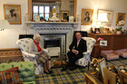 Queen Elizabeth II entertains John Key at her castle in Balmoral. Photo / Claire Trevett