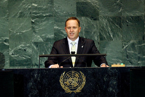 Prime Minister John Key has attacked the failings of the United Nations. File photo