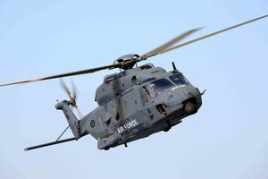 An aviation expert is concerned that a brand-new, multimillion-dollar NH90 helicopter can be grounded by a lightning strike.