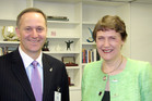 John Key and Helen Clark have developed a constructive relationship since the 2008 election. Photo / File
