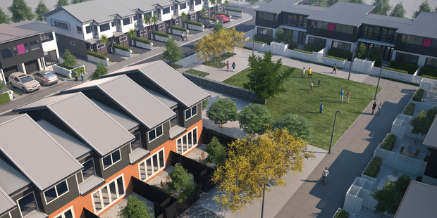 Springpark, Auckland's first proposed mass affordable housing project.