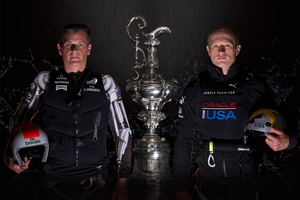 Dean Barker and Jimmy Spithill. Photo / AP