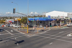 The eight shops on the Glenfield Rd/Bentley Ave corner, on the market for the first time since the 1960s, have a lot of passing foot and street traffic.