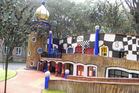 A model of the proposed Hundertwasser building.