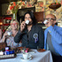 Della Mano cafe with owners Bein and Deb Peralta and escort Amanda Kruse. Photo / Steve Holland