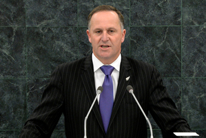 John Key speaks during the general debate of the 68th session of the United Nations General Assembly. O