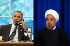 Iranian President Hassan Rouhani and US President Barack Obama. Photo / Getty Images