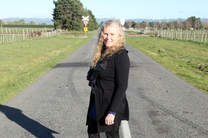 Wiltons Rd resident and crossing safety campaigner Janine Vollebregt has put more than 10 years into a campaign for the crossing to be upgraded.